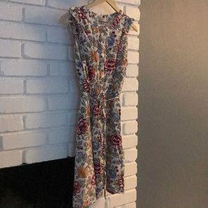 Loft floral career dress